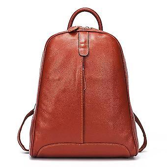 Zency 100٪ لينة أزياء جلدية حقيقية المرأة حقيبة ظهر عارضة السفر مرة أخرى حزمة حقيبة preppy نمط فتاة &#039؛ق حقيبة كمبيوتر محمول schoolbag حقيبة