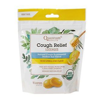 Quantum Health Cough Relief Organic Bagged Lozenges, Meyer Lemon & Honey 18 Count