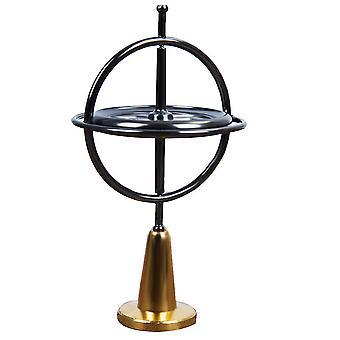 Metal fingertip spinner, hand decompression toy(Black)