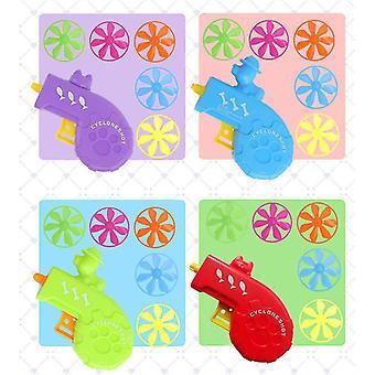 Kolorowe UFO dzieci pistolet ropucha, dzieci nostalgiczne toy kolorowe latające spodek Pet Toy Gun (Niebieski)