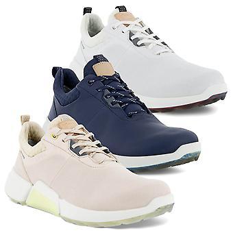 Ecco Womens 2021 Golf Biom H4 Lederen Waterdichte Spikeless Golfschoenen