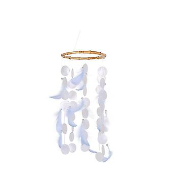 Wind Chimes With Shells Feathers Home Hanging Decor Ornaments Gifts For Outside Room Decoration