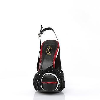 Pin Women's Shoes Up Wht Pat-Blk Fabric