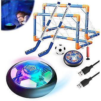 3in1 Hover Fußball Hockey Balls Kinder Spielzeug Set Stern Nachtlicht Interaktive Sportspiele USB