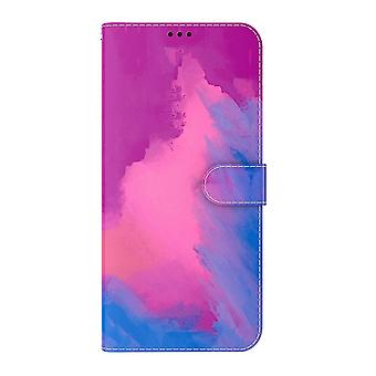 Case For Samsung Galaxy Xcover 5 Watercolour Cover Purple Blue