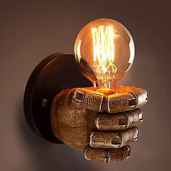 Retro Wall Lamp Industrial Personality Wind Restaurant Bar Caf Fist Resin Room Room Decoration Creative Wall Lamp