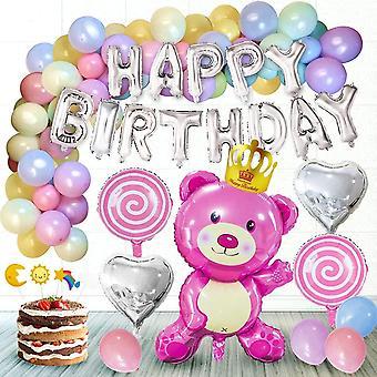 ® Geburtstagsdeko Mädchen, Kindergeburtstag Dekoration Set inkl. Alles Gute zum Geburtstag Girlande,
