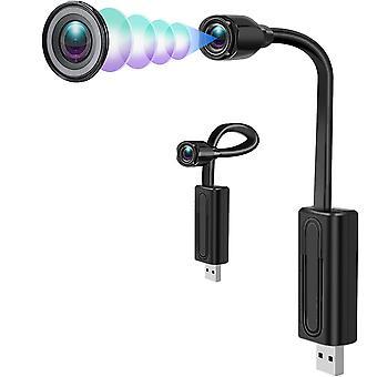 واي فاي كاميرا خفية جاسوس كاميرا HD ميني واي فاي كاميرا للأمن المنزلي جاسوس الكاميرا الخفية مع الحركة / الكشف عن الصوت وتسجيل حلقة للعرض البعيد (أسود)