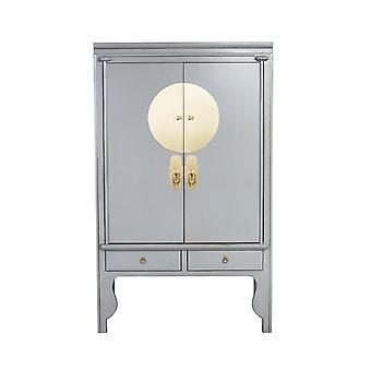 Fina Asianliving gabinete de boda chino gris pastel - Orientique Collection W100xD55xH175cm