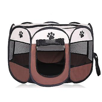 Portable Folding Pet Tent Dog House Cage Dog Cat Tent Playpen Puppy Kennel Easy Operation Octagonal