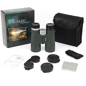 12x42 Takprisma kikare för vuxna, bärbar vattentät kompakt kikare med låg ljus natt