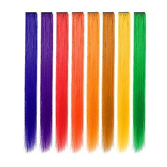 8kpl Synteettiset hiustenpidennys-silmukat eri väreissä