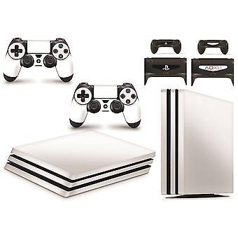 GNG PS4 PRO Console Hvid farve Hud Decal Vinal Sticker + 2 Controller Skind Sæt
