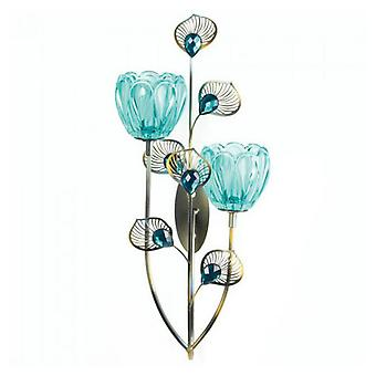 Gallery of Light Peacock Bloom Candle Sconce - Double, Pack of 1