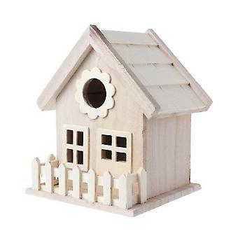 בית ציפור עץ רבייה כלוב גדר גדר קן גן בחצר האחורית קישוט הבית| כלובי ציפורים וקנים
