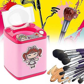 Multifunctional Mini Cosmetic Brush Powder Puff Washing Machine Simulation Toy - Black girl
