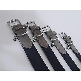 Pet leashes luxury leather collar soft touch navy 1'' x20-24''