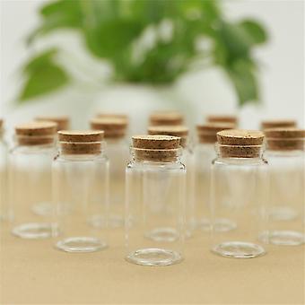 Conjunto de 12 piezas de frascos de vidrio de almacenamiento de especias de corcho ecológicos de 50 ml