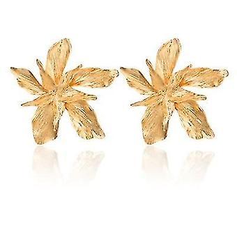 Eleganz Gold große Blume baumeln Ohrringe für Frauen (Gold)