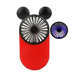 bærbar håndholdt tegneserie mikke mus mini fan