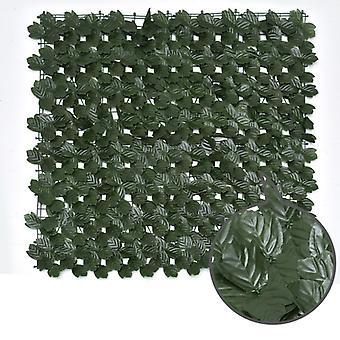 Imitazione piante Schermo di recinzione per privacy artificiale, recinzione per siepi artificiali e decorazione finta per la decorazione del giardino esterno 1m X 1m, foglia d'acero + 100