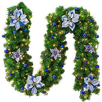 קישוט חג המולד 8.9 רגל גפן קנים חג המולד