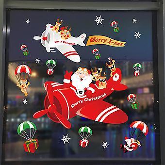 Julevindu klistremerker Festival Xmas Butikker Dekal Vegghus Dekor