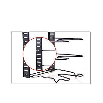 Silktaa Household Eight-layer Adjustable Pot Holder Metal Pot Cover Bracket