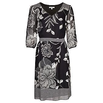 Per Una monokrom blommig klänning DR896-10