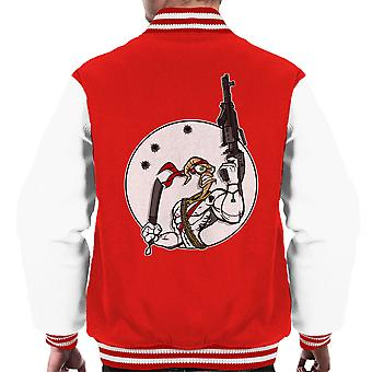 Battle Worm Earthworm Jim Men's Varsity Jacket
