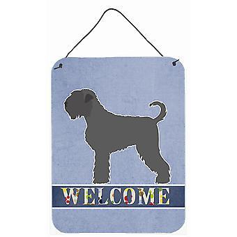 Black Russian Terrier Welcome Wall or Door Hanging Prints