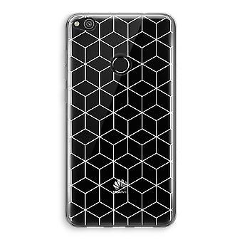 Huawei Ascend P8 Lite (2017) Transparant fall (Soft) - kuber svart och vitt