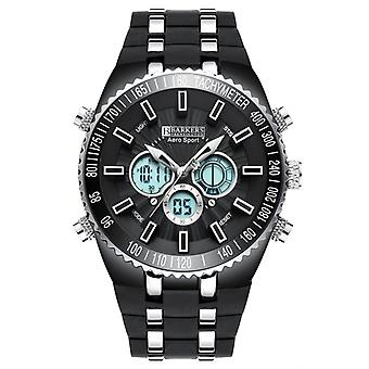 Barkers of Kensington Aero Sport Black and Steel Mens Sports Watch