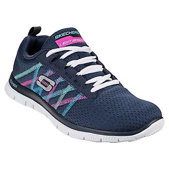 Skechers Ladies Skechers Sports Flex Appeal Some Textile Sneaker Trainers