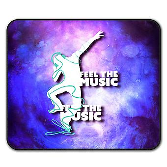 Club Dj Song Dance  Non-Slip Mouse Mat Pad 24cm x 20cm | Wellcoda
