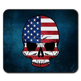 Czaszka Goth flaga śmierci USA myszy antypoślizgowa Mata podkładka 24 cm x 20 cm | Wellcoda