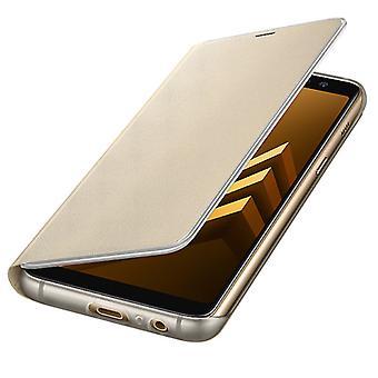 Samsung neon klappens cover sag elementærfilen FA530PLEGWW Galaxy A8 2018 A530F cover guld