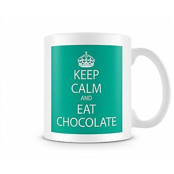 Houd Kalm en eet Chocolade Bedrukte Mok