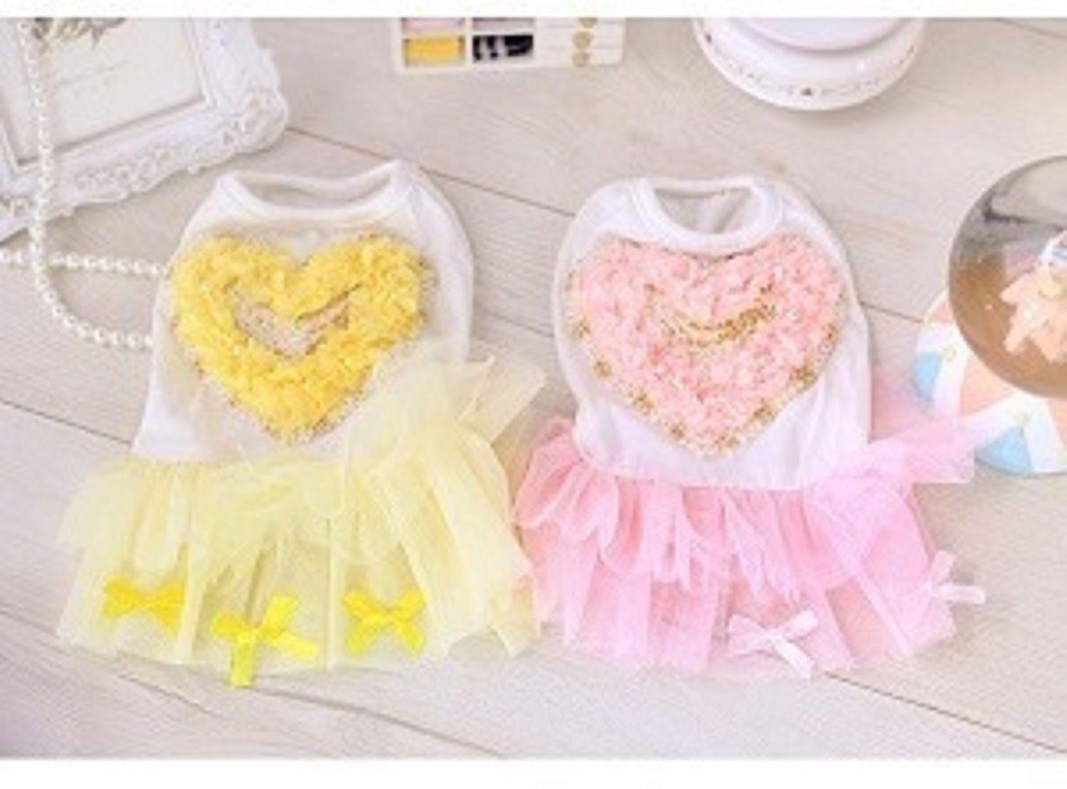 Love Heart Shape Princess Dog Dress