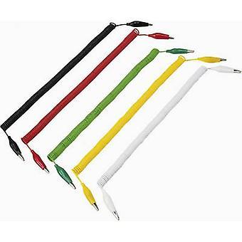 VOLTCRAFT 280MM/0,1/SP Test lood kit [Terminals - Terminals] 3.2 m zwart, rood, geel, groen, wit