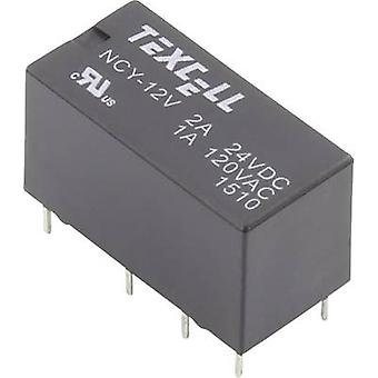 Texcell NCY-12V PCB relay 12 V DC 2 A 2 change-overs 1 pc(s)