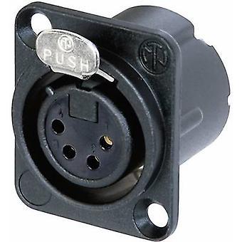 Neutrik NC4FD-LX-B XLR kontakt ärm uttag, rak stift antal stift: 4 svart 1 dator