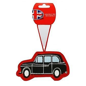 Union Jack indossare London Cab decorazione albero di Natale
