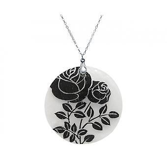 Gemshine necklace pendant locket mother mother roseS 925 silver black