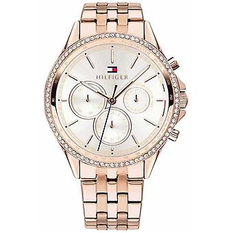 Tommy Hilfiger Women's Rose Gold Plated Crystal Set Multi-function 1781978 Watch