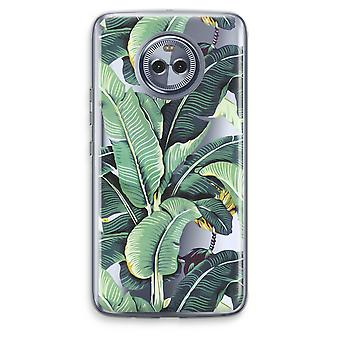 Motorola Moto X4 boîtier Transparent (doux) - feuilles de bananier