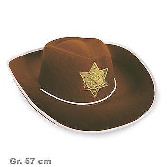 Cowboy pălărie Brown Sheriff Wild West