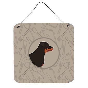 Rottweiler In the Kitchen Wall or Door Hanging Prints