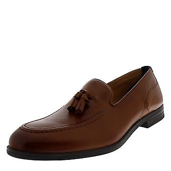 Mens H By Hudson Dickson Calf Leather Tan Work Office Smart Loafer Shoes