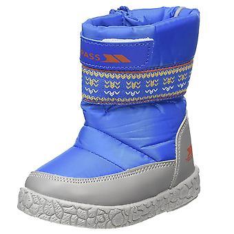 Trespass Boys Alfred Waterproof Breathable Fleece Line Snow Boot Royal